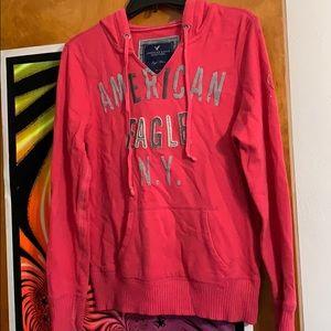 Pink American Eagle Hoodie